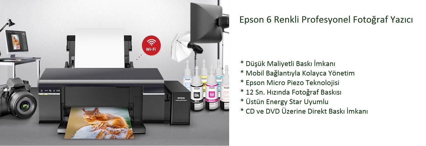 Epson L805 Mürekkep Tanklı Wi-Fi Fotoğraf Yazıcı C11CE86401